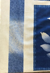 Floral Fabric - Indigo Fern PANEL