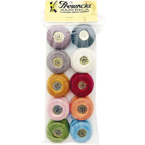 Presencia Perle Cotton Sampler Pack -  Bonnie Sullivan's LAMBIES IN PAJAMAS - Size 8