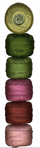 Presencia Pearl Cotton Sampler Pack - Yuletide - Size 8