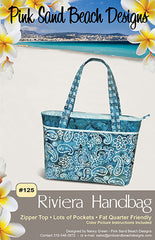 Bag Pattern - Pink Sand Beach Designs - Riviera Handbag - ON SALE