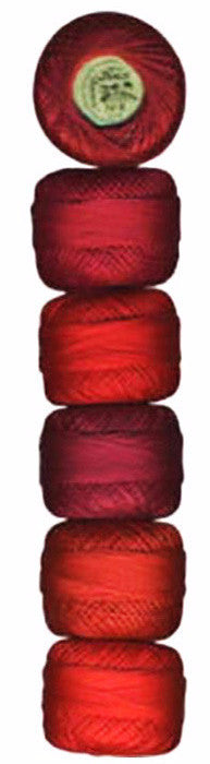 Presencia Pearl Cotton Sampler Pack - Scarlet-Red- Size 8