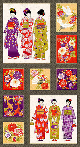 *Asian - Kimono Collection Geisha PANEL