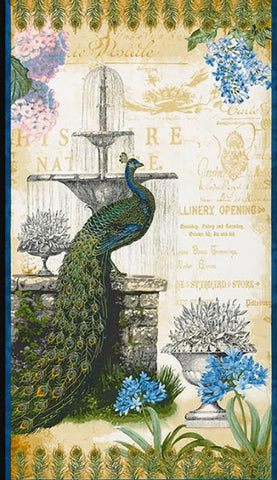PANEL - Peacock in Paris - ON SALE