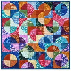 "Quilt Pattern - Elisa's Backporch Designs - Small Path's Pattern & 3 1/2"" Crazy Curves Template"