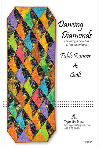 Table Runner & Quilt Pattern - Tiger Lily Press - Dancing Diamonds
