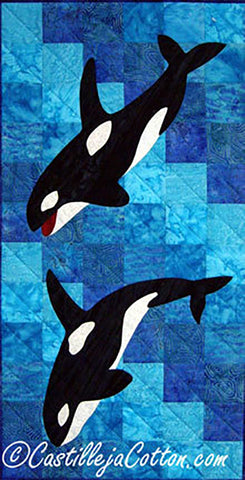 Quilt Pattern - Castilleja Cotton - Dive Deep (Orcas)