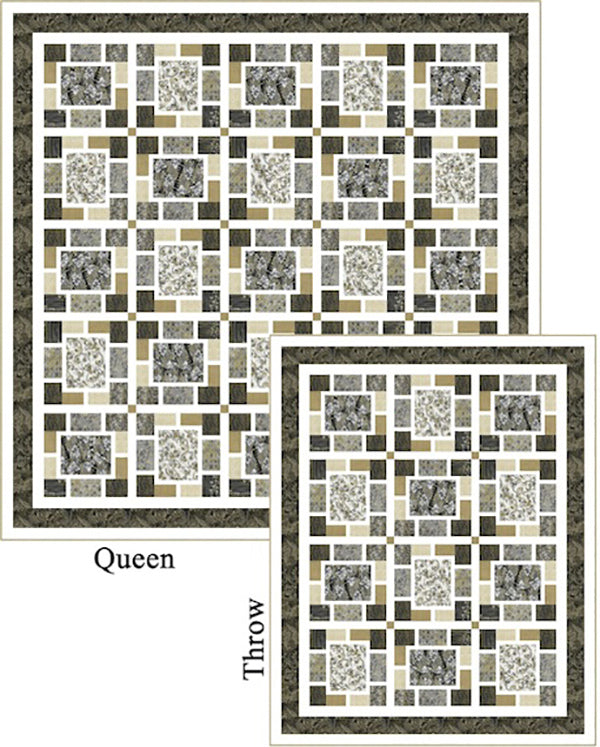 Quilt Pattern - Pine Tree Country Quilts - Easy Breezy Zephyr