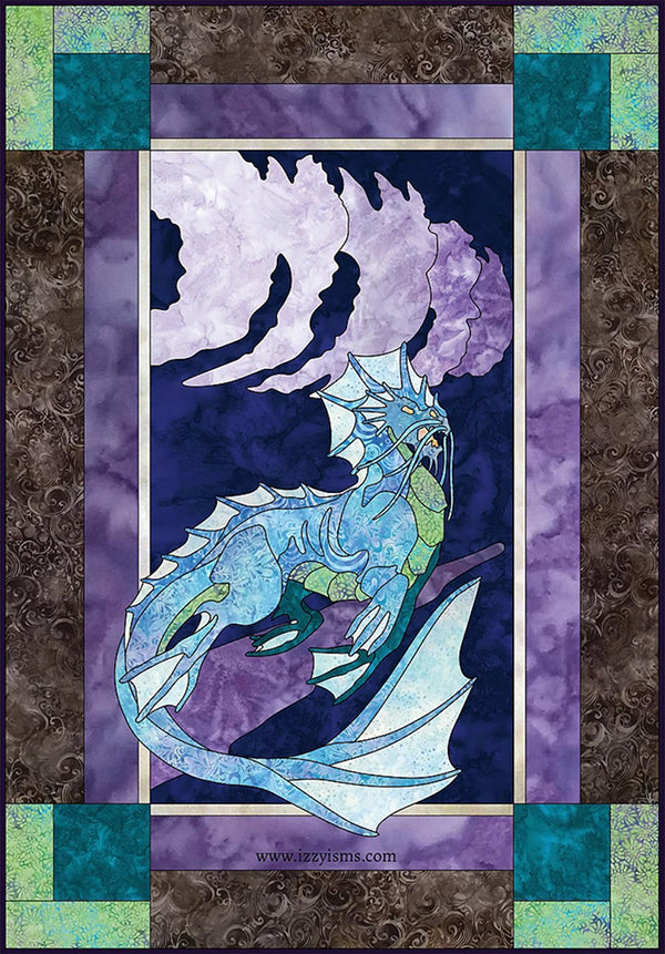 Quilt Pattern - Elemental Water Dragon