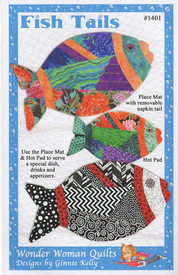 Pattern - Wonder Woman Quilts - Fish Tails Placemat