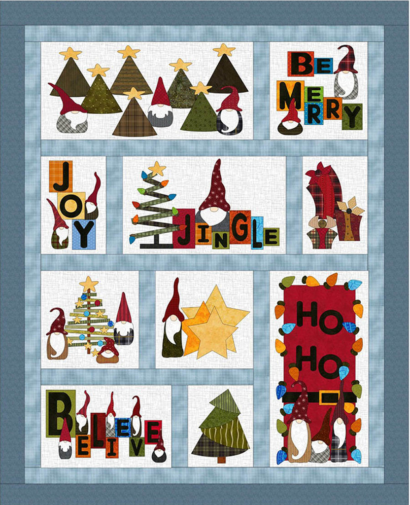 Holiday Pattern - Just for Fun - Gnome for the Holidays Quilt