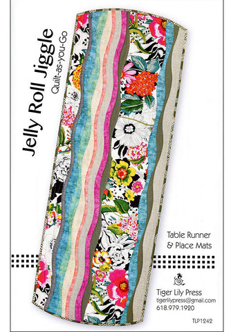 Table Runner & Placemat Pattern - Tiger Lily Press - Jelly Roll Jiggle