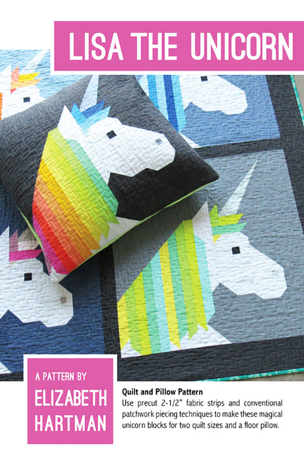 Quilt Pattern - Elizabeth Hartman - Lisa The Unicorn
