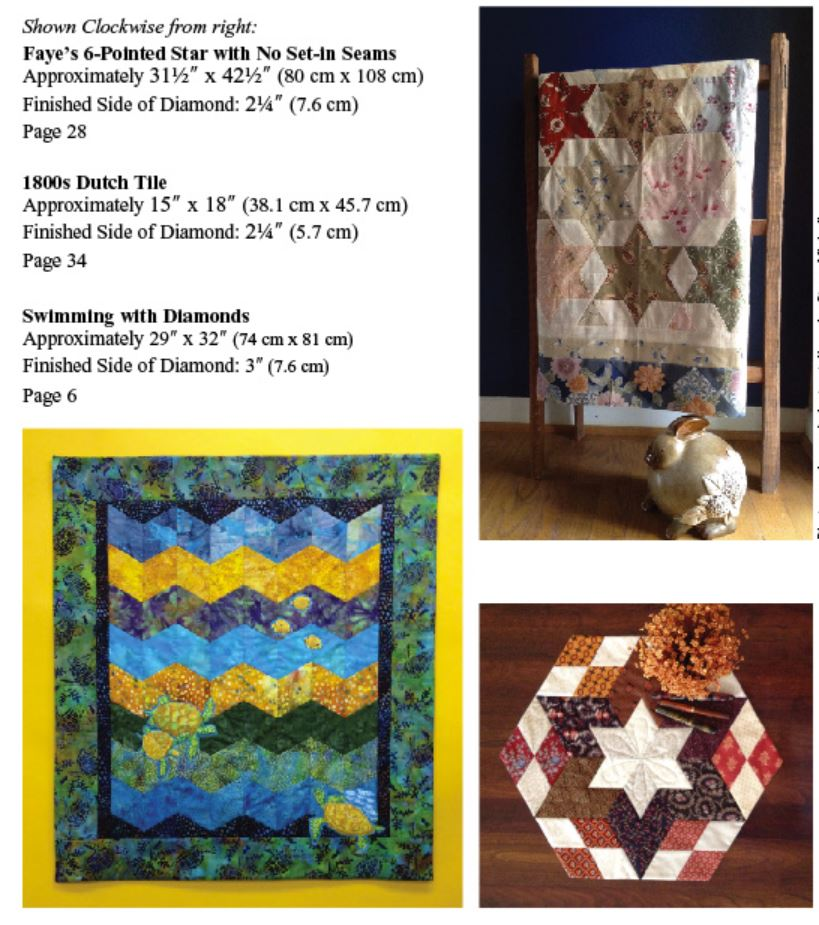Quilt Pattern & Template - Marti Michell - Diamonds Are Forever (Tumbling  Blocks)