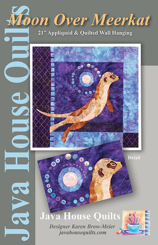 Quilt Pattern - Java House - Moon Over Meerkat