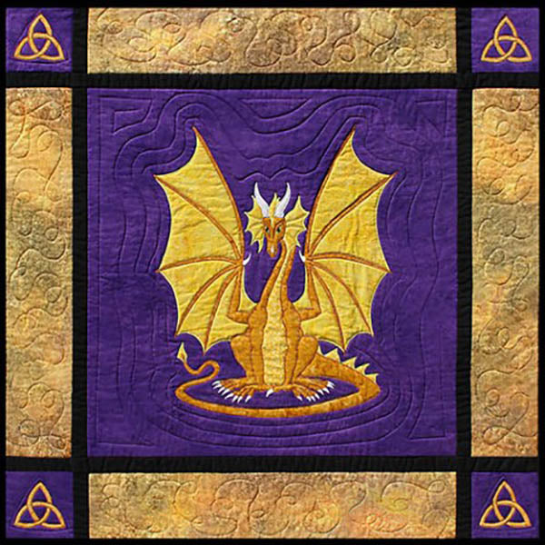 Quilt Pattern - Needlesongs - Dragon on Guard