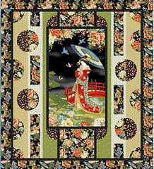 Quilt Pattern - Quilt Poetry - Kyoto Garden - Nakaniwa (Courtyard)