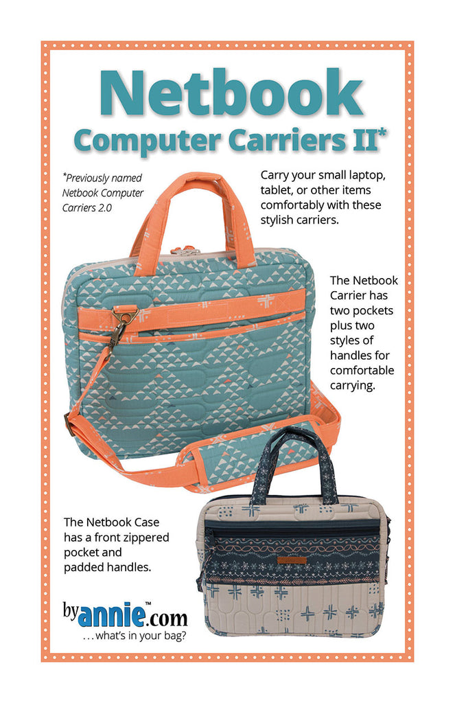 Bag Pattern - byAnnie - Netbook Computer Carriers 2.0 - ON SALE
