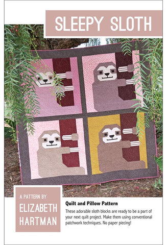 Quilt Pattern - Elizabeth Hartman - Sleepy Sloth - ON SALE