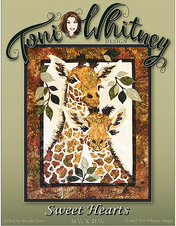 Quilt Pattern - Toni Whitney Design - Sweet Hearts (Giraffes)