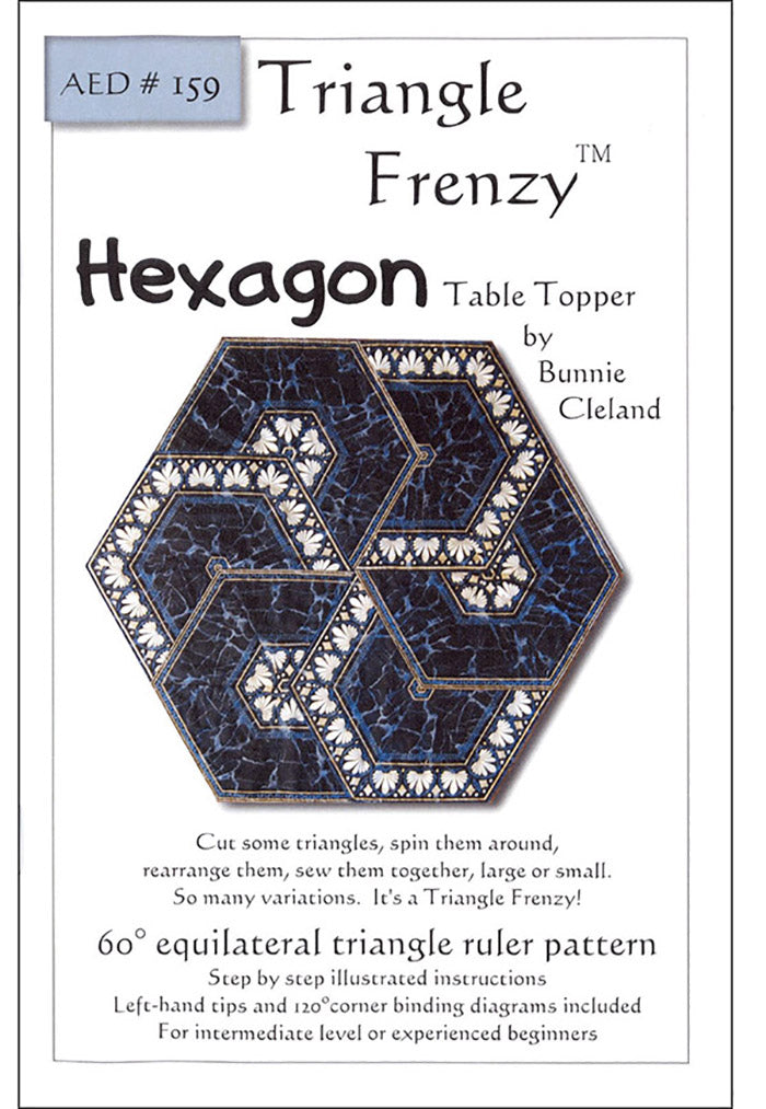 Pattern -  Triangle Frenzy Hexagon Table Topper & Tree Skirt