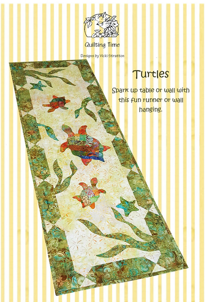 Quilt Pattern  & Table Runner - Quilting Time - Turtles