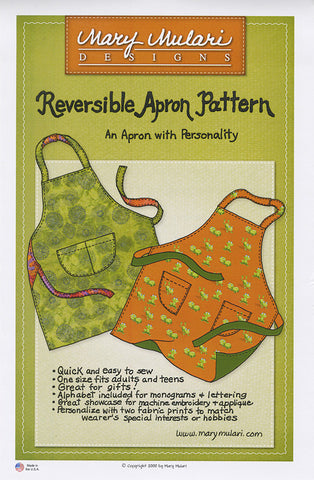 Apron Pattern - Mary Mulari - Reversible Apron Pattern
