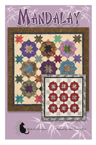 Quilt Pattern - Black Cat Creations - Mandalay