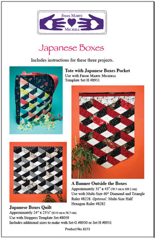 Quilt Pattern & Template - Marti Michell - Japanese Boxes
