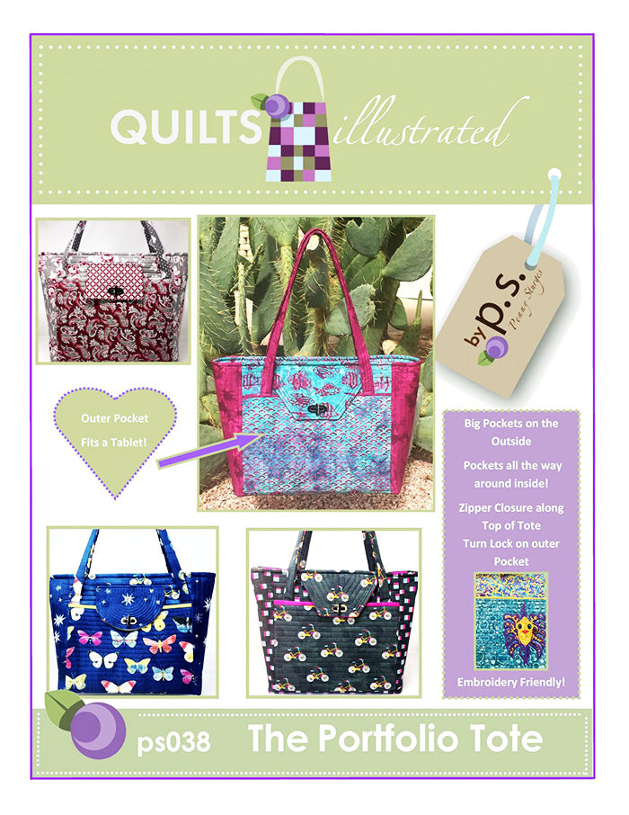 Bag & Tote Pattern - Quilts Illustrated - The Portfolio Tote