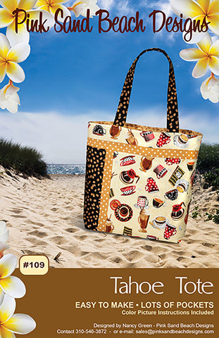 Bag Pattern - Pink Sand Beach Designs - Tahoe Tote - ON SALE