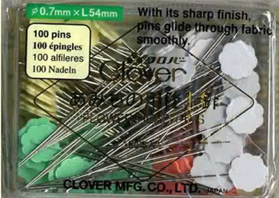Notions - Clover Flower Head Pins # 2506 - Long - 100/ Box