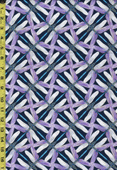Asian - Dragonfly Dance - Dragonfly Pinwheel - 8508-68 - Navy & Violet