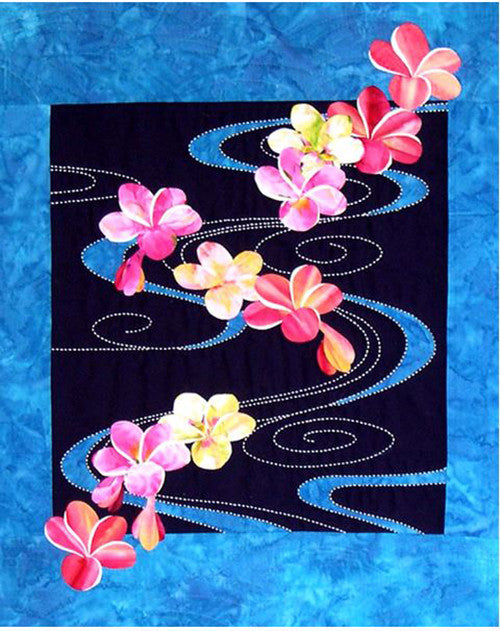 Sashiko - Sylvia Pippen Designs - Plumeria Floating on Water - Kit