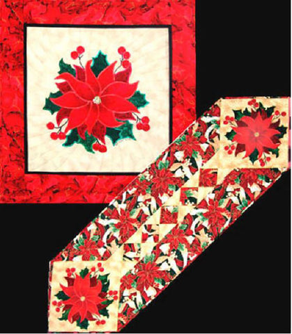 Quilt Pattern & Table Runner - Art of the Quilt - Pat's Poinsettia
