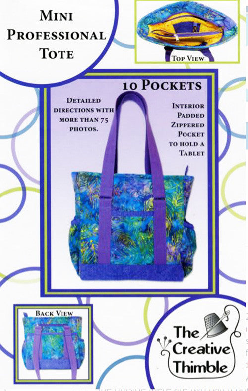 Bag Pattern - The Creative Thimble - Professional Tote - Mini