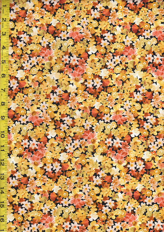 *Floral Fabrics - Les Fleurs - Compact Small Multi-Colored Flowers