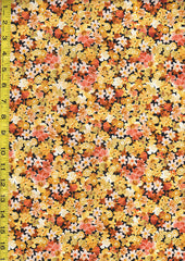 Floral Fabrics - Les Fleurs - Compact Small Multi-Colored Flowers