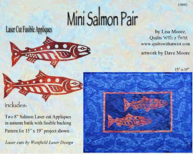Quilt Pattern & Laser Cut Applique - Mini Salmon - Autumn Pair - # 15092