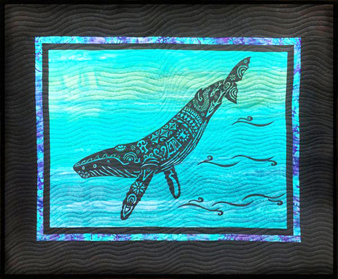 Quilt Pattern & Laser Cut Applique - Alaska Whale Song - # 11602