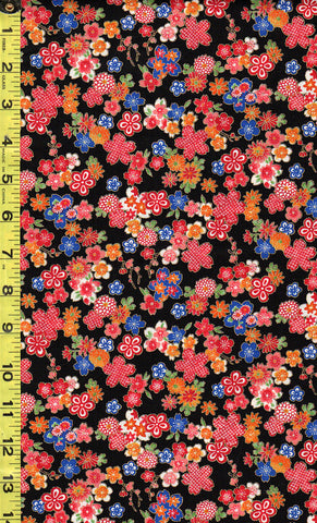 *Asian - Sakura Brook - Sevenberry Small Compact Cherry Blossoms - SB-850288D1-5 - Black