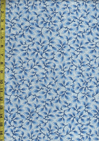 Floral Fabrics - Country Manor Petal Branches - Blue & White