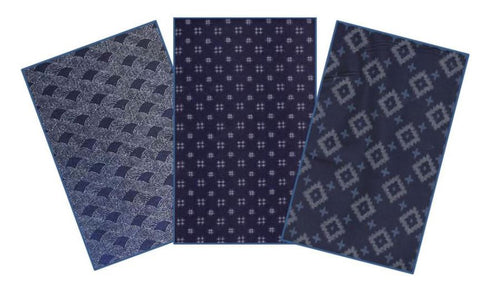 *Japanese Traditional Indigo - Rectangles - 40 - 3 1/2