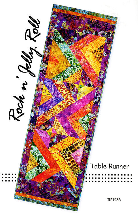Table Runner Pattern - Tiger Lily Press - Rock 'n Jelly Roll Table Runner