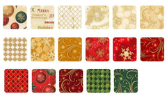 "Holiday - WINTER'S GRANDEUR - Roll-Up - Pre-cut 2 1/2"" Strips (40) - HOLIDAY"