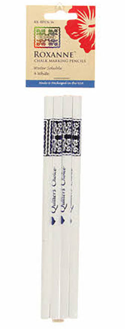 Notions -  Roxanne Quilter's Choice Marking Pencils - White - 4 Pack