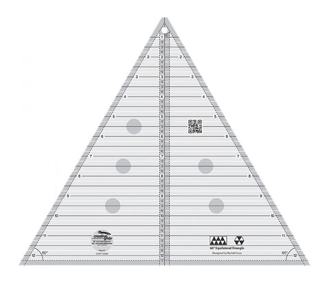 Rulers & Templates - Creative Grids - CGRT12560 - Extra-Large 60 degree Triangle - 12-1/2 inch