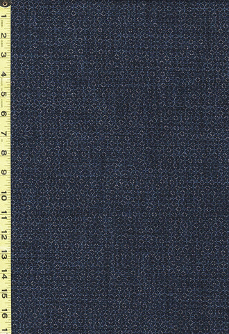 *Japanese - Sevenberry Nara Homespun - Tonal Honeycomb - SB-850327D3-1 - Navy
