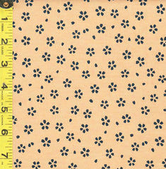 *Japanese - Sevenberry Kasuri Collection - Small Floating Indigo Cherry Blossoms - SB-88220D5-2 - Warm Beige