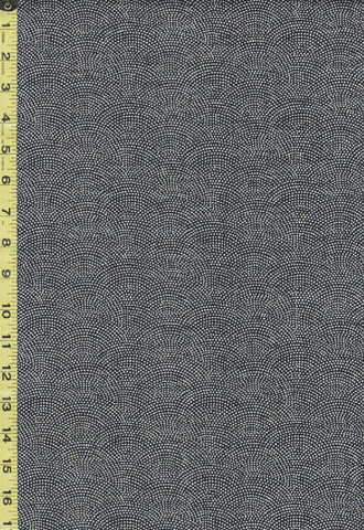 *Japanese - Sevenberry Nara Homespun - Dotted Wave (Seigaiha) - SB-88223D5-62 - Indigo