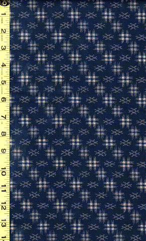 *Japanese Sevenberry - Kasuri Collection - Diagonal Hatches - SB-88222D5-3 - Navy/ Indigo